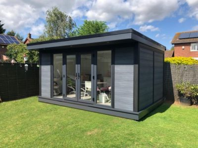 Composite Garden Room Beauticians In Coventry Outside Shot